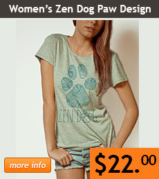 Women's Zen Dog Paw Design